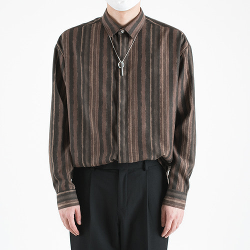 HIPPIE AND JIPSY SHIRTS -BROWN-